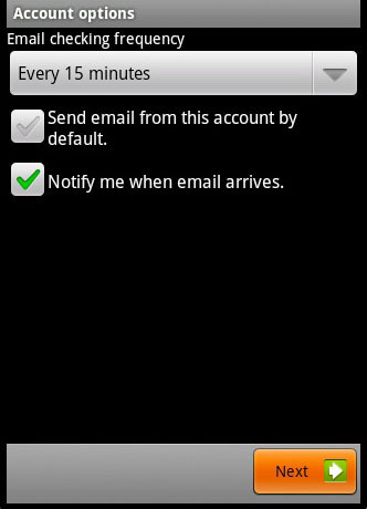 Android Email Setup 6