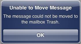 iphone error message