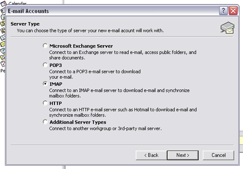 outlook 2003 email setup step 5 and 6