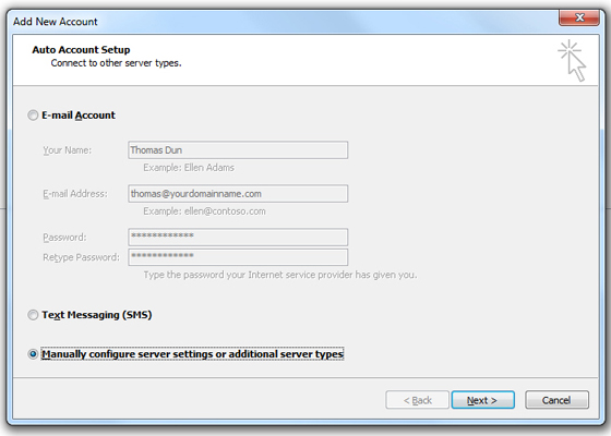 Outlook 2010 Email Setup