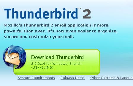 thunderbird intall step 1